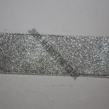 "Lurex Ribbon 6mm (1/4"") - Silver - Roll Price"