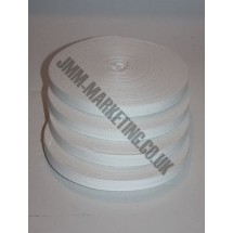 "Cotton Tape 12mm (1/2"") - White - Roll Price"