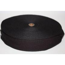 "Polyester Webbing 1 1/2"" (37mm) - Black - Roll Price"