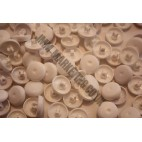 Cover Buttons - White Plastic 15mm - 100 Box
