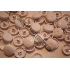 Cover Buttons - White Plastic 19mm - 100 Box