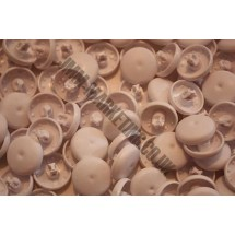 Cover Buttons - White Plastic 22mm