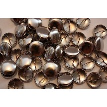 Metal Cover Buttons - Nickel 15mm