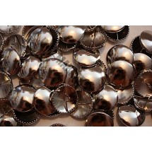 Metal Cover Buttons - Nickel 38mm - 50 Box