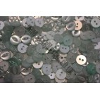 Baby Buttons - Pale Green - Pack of Ten