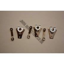 Hooks and Bars - 10 Pairs - Nickel