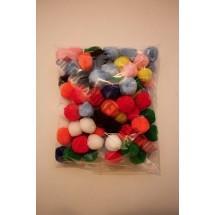 Pom Poms - Assorted Colours