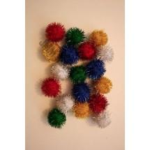 Pom Poms Glitter - Assorted Colours