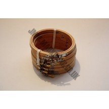 """Round Embroidery Frame - Wooden - 4"""" - 6 Pack"""
