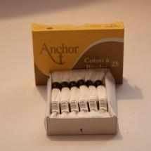 Anchor Cotton a Broder - White (01)