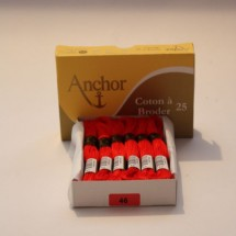 Anchor Cotton a Broder - Red (46)