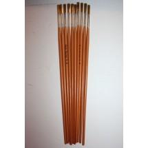 Nylon Brushes Round Fitches - Size 8