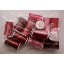 Lesur 100m Colour Pack Red/Pinks - Half Pack