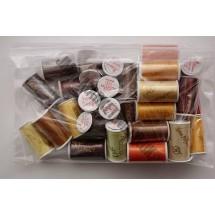 Lesur 100m Colour Pack Beige/Yellow/Brown - Full Pack