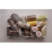 Lesur 100m Colour Pack Beige/Yellow/Brown - Half Pack