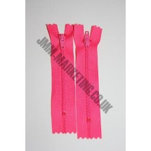 "Nylon Zips 4"" (10cm) - Cerise"