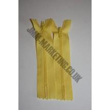 """Nylon Zips 4"""" (10cm) - Yellow"""