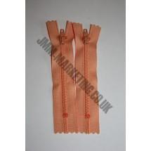 """Nylon Zips 4"""" (10cm)- Peach"""