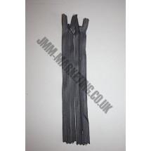 "Optilon Concealed Zips 8"" (20cm) - Dark Grey"