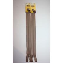 """Basque Zips 10"""" (25cm)- Beige"""