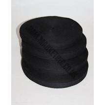 "Cotton Tape 12mm (1/2"") - Black - Roll Price"