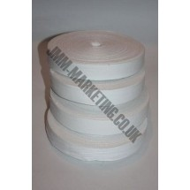"Cotton Tape 25mm (1"") - White - Roll Price"