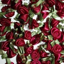 Ribbon Roses - Small - Burgundy