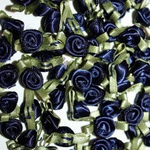 Ribbon Roses - Small - Navy