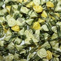 Ribbon Roses - Small - Yellow