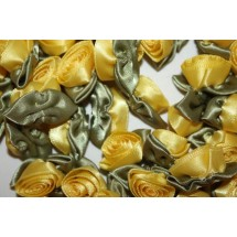 Ribbon Roses - Large - Yellow