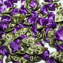 Ribbon Roses - Large - Purple