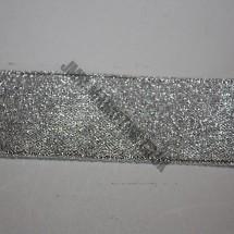 "Lurex Ribbon 25mm (1"") - Silver - Roll Price"
