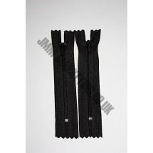 "Nylon Zips 6"" (15cm) - Black"