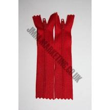 """Nylon Zips 5"""" (13cm) - Red"""