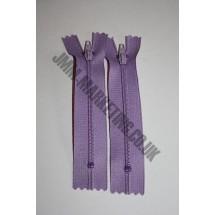 "Nylon Zips 6"" (15cm) - Lilac"