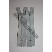 "Nylon Zips 6"" (15cm) - Light Grey"