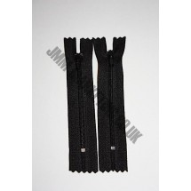 "Nylon Zips 7"" (18cm)- Black"