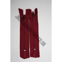 """Nylon Zips 7"""" (18cm)- Burgundy"""