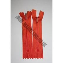 """Nylon Zips 8"""" (20cm)- Orange"""