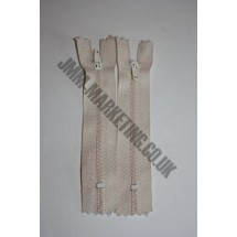 """Nylon Zips 8"""" (20cm) - Cream"""