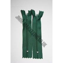 """Nylon Zips 9""""(23cm) - Bottle Green"""