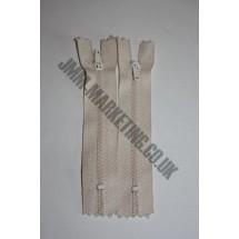 """Nylon Zips 9"""" (23cm) - Cream"""