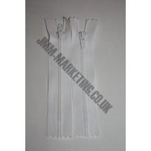 "Nylon Zips 10"" (26cm) - White"