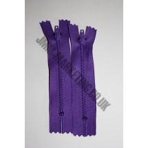 """Nylon Zips 10"""" (26cm) - Purple"""