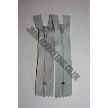 "Nylon Zips 10"" (26cm) - Light Grey"