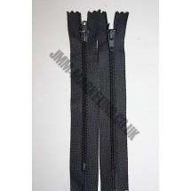 """Nylon Zips 10"""" (26cm) - Dark Grey"""
