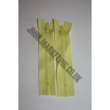 """Nylon Zips 16"""" (41cm) - Lemon"""