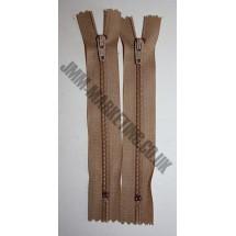 """Nylon Zips 16"""" (41cm) - Beige"""