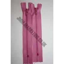 "Nylon Zips 16"" (41cm) - Dusky Pink"