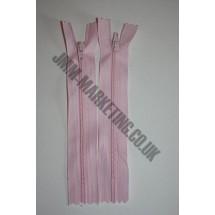 """Nylon Zips 18"""" (46cm) - Light Pink"""